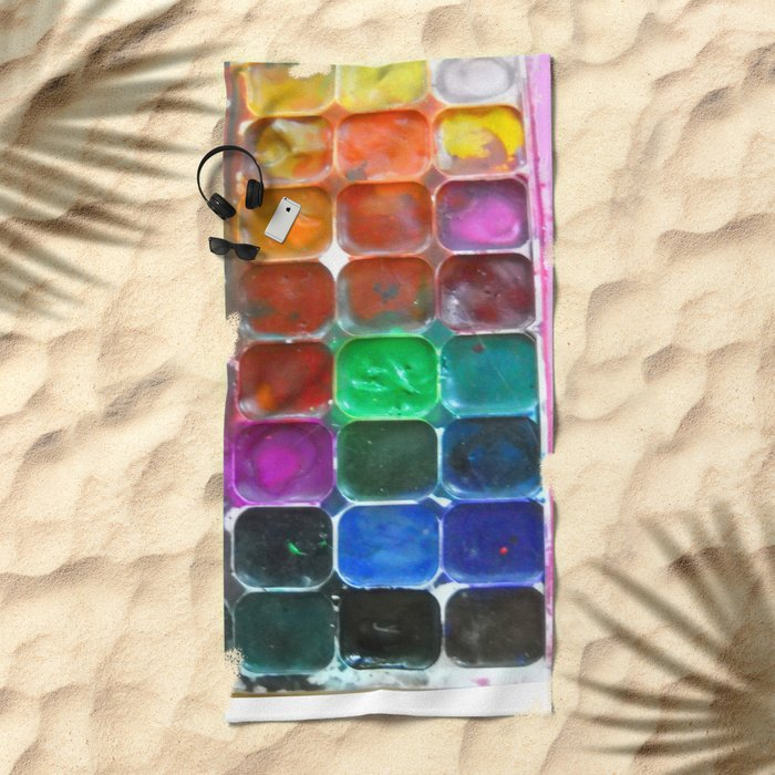 Watercolours Beach Towel