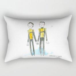 Charles and Erik Rectangular Pillow