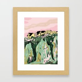 River Houses Framed Art Print