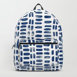 Abstract rectangles - indigo Backpack