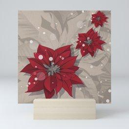 Poinsettias - Christmas flowers | BG Color I Mini Art Print