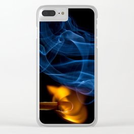 flames Clear iPhone Case