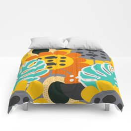 Sunflowers and leaves Comforters