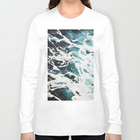 waves Long Sleeve T-shirts featuring Waves by Jenna Davis Designs