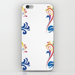 Colorful Bird Swan Nature Art Design Feathers Animal Picture Birdy Artistically Ornament Gift Idea iPhone Skin
