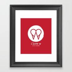 I Love W Framed Art Print