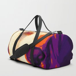 labrador retriever dog winking vector art late sunset Duffle Bag