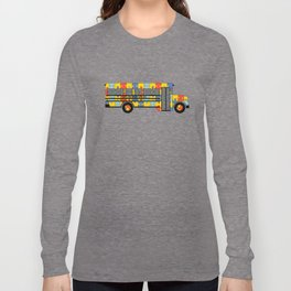 Autism Awareness School Bus Long Sleeve T-shirt