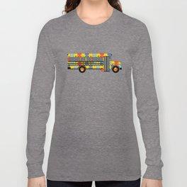 Autism Awareness School Bus Long Sleeve T-shirt
