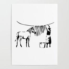 Banksy, A Woman Washing Zebra Stripes Artwork Reproduction, Posters, Tshirts, Prints Poster