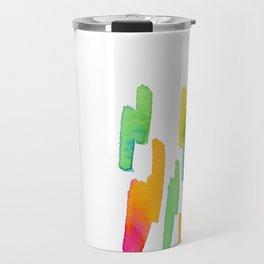 Abstract Painting Modern Art watercolor abstract art minimalist Follow Your Heart no.5 Travel Mug