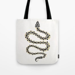 Serpent – Black & Gold Tote Bag