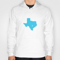 texas Hoodies featuring Texas by Hunter Ellenbarger
