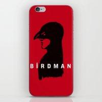 birdman iPhone & iPod Skins featuring Birdman by RobHansen