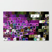 letters Canvas Prints featuring Letters by LoRo  Art & Pictures