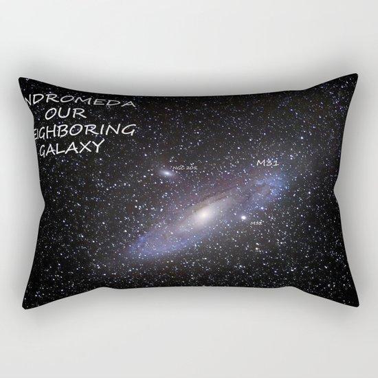Galaxy Andromeda Rectangular Pillow