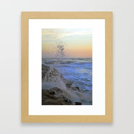 Crashing wave Framed Art Print