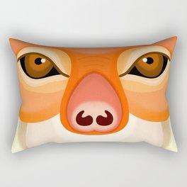 Red Shanked Douc Rectangular Pillow