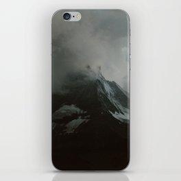 The Zermtt Matterhorn Under Storm Clouds iPhone Skin