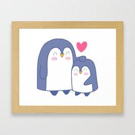 Cute Penguin Love Framed Art Print