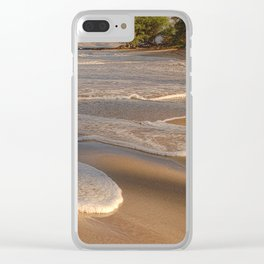 Gentle Waves on Beach Clear iPhone Case
