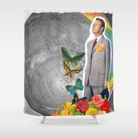 boyfriend Shower Curtains featuring Future Boyfriend by Dana Fortune
