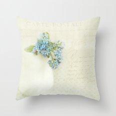 vintage greeting  Throw Pillow
