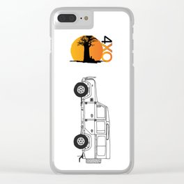 Land Rover Defender 4xOverland Clear iPhone Case