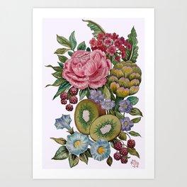 Kiwi and Friends Art Print