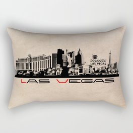 Las Vegas skyline Rectangular Pillow