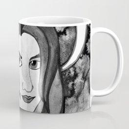 Hunter Behind The Mask - Black and White Coffee Mug