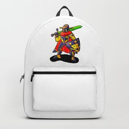 Robot Knight with Glowing Sword Backpack