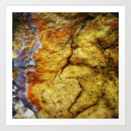 Desert Glow Earth Art Abstract Natural Rock Texture Art Print