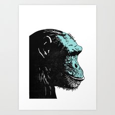 Chimp Art Print