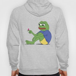 Pepe The Frog Sad PepeTheFrog Crying cute Butterfly Hoody
