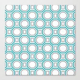 Blue Harmony II Symmetry Canvas Print