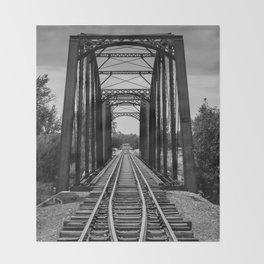 Railroad Bridge  Throw Blanket
