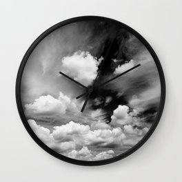 Black and White Sky Wall Clock
