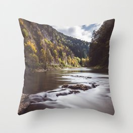 Dunajec River - Landscape and Nature Photography Throw Pillow