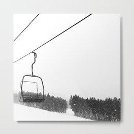 Ski Lifts Views Metal Print