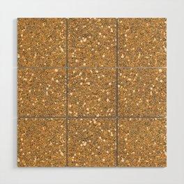 Gold Glitter Wood Wall Art