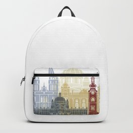 Zagreb skyline poster Backpack