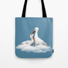 STORKS ON CLOUDS (animals love) Tote Bag