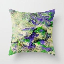 Pansies in Cream Throw Pillow
