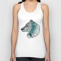 wolves Tank Tops featuring Wolves by Chebhead