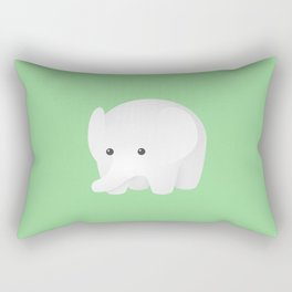 White Elephant Rectangular Pillow