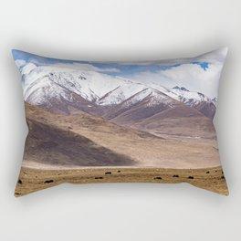 Tibet landscape with yaks Rectangular Pillow