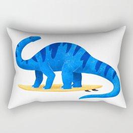 Awsome Apatosaurus Surfing Rectangular Pillow