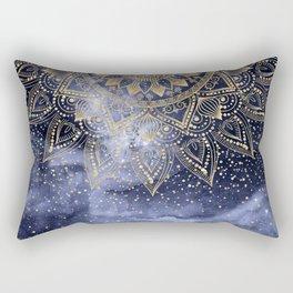 whimsical gold mandala confetti design Rectangular Pillow