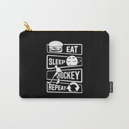 Eat Sleep Hockey Repeat - Ice Sport Puck Winter Carry-All Pouch